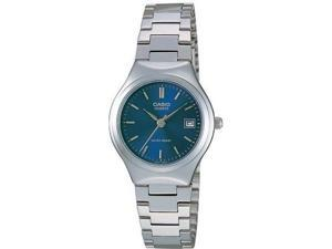 Casio #LTP-1170A-2A Women's Metal Fashion Blue Dial Analog Watch