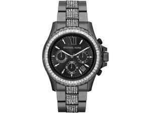 Michael Kors #MK5829 Women's Everest Glitz Gunmetal Stainless Steel Chronograph Watch