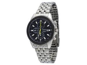 Seiko SNDF09 Men's Chronograph Quartz Watch Stainless Steel - Black