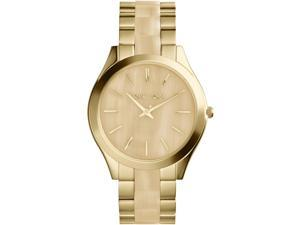 Michael Kors MK4285 Runway Slim Golden Horn Stainless Steel Three Hand Watch