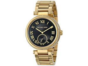 【美國購物季】【24HR到貨】Michael Kors 簡約俐落時尚黑金腕錶  MK5989【加送風格插畫家日誌】