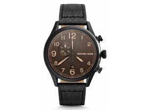 Michael-Kors-MK7069-Mens-Hangar-Black-IP-Leather-Band-Chronograph-Watch