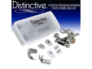 Distinctive 7-Piece Premium Sewing Foot Home Dec Package