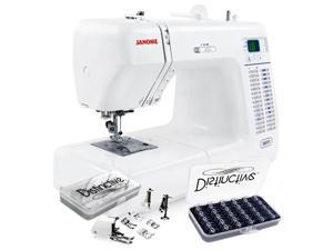 Janome 8077 30-Stitch Computerized Sewing Machine w/ Distinctive Quilt Kit and Distincitve 30-Piece Bobbin Case