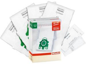 Miele U HyClean Vacuum Cleaner Bags – 4 Vacuum Bags + 1 Super Air Clean Filter + 1 Pre-Motor Filter