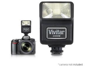 Vivitar 2400M Universal Hot-Shoe Camera Digital Flash With 12 Guide Number Lighting