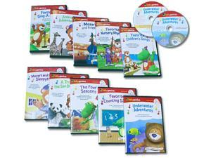 Baby Genius Ultimate Children's Library Set with 10 DVDs & 10 CDs