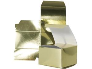 3 x 3 x 2 Gold Metallic Foil Gift Box - Sold individually