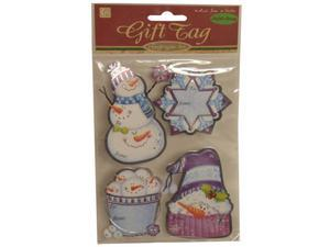 Purple Snowflake Handmade Holiday Gift Tag Stickers - Each pack sold individually