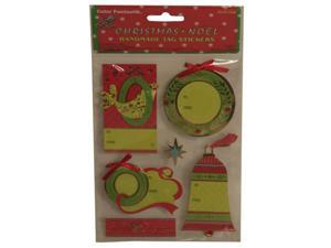 Green Wreaths Handmade Holiday Gift Tag Stickers - Each pack sold individually