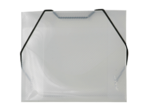 Clear Grid Plastic Elastic Closure Portfolios - CD case size (5 x 5 5/8 x 3/8) - sold individually