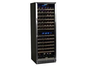 EdgeStar 155-Bottle Built-In Dual Zone Stainless Steel Wine Cooler