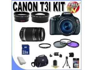 Canon EOS Rebel T3i 18 MP CMOS Digital SLR Camera and DIGIC 4 Imaging with EF-S 18-55mm  IS Lens & Canon 75-300 Lens + 58mm ...