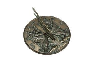Rome Industries 2464 Antique Cold Cast Bronze Sundial - Swan
