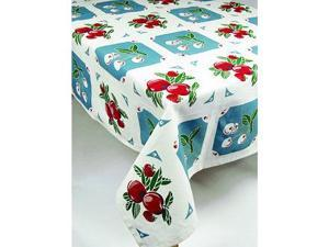 Moda Home Checkered Tablecloth - Fresh Fruit in Blue