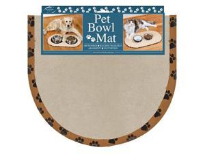 Envision Home Microfiber Pet Bowl Mat in Beige - 12.50 x 12.50 Inches
