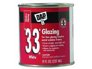 1/2Pt Wht Glazing Compound DAP INC Window Glazing Compound 12120 White