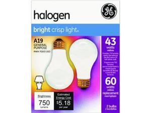 GE Lighting 63003 43A/W/H-2PK 2-Pack Soft White Halogen Bulb
