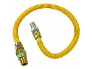"Brass Craft CSSD44E-60P 1/2"" O.D. Gas Connector - 1/2"" M.I.P. Safety+PLUS x 1/2"" M.I.P."