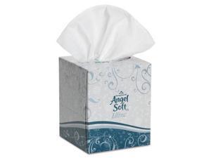 "Georgia Pacific Angel Soft ps Ultra Premium Facial Tissue, White, 7.6"" x 8.5"", 96/Box, 36/Carton"