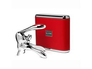 "Metrokane Rabbit Corkscrew Polished ""Sterling Model"" - VIP Edition - w/Red Leather Case"
