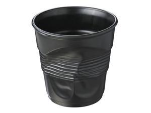 Revol Froisses - 105 3/4 oz. Crumpled Champagne Bucket - Satin Black