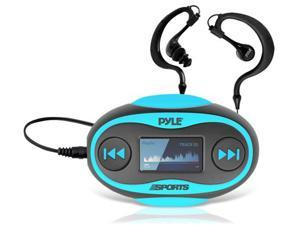New Pyle PSWP25BL 4GB Waterproof MP3 Player/FM Radio with Pedometer, Lap Counter, Stop Watch, LCD Display and Included Waterproof ...