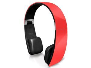 Pyle Sound 6 PHBT6R Bluetooth 2-in-1 Stereo Headphones with Built-in Mic (Red)