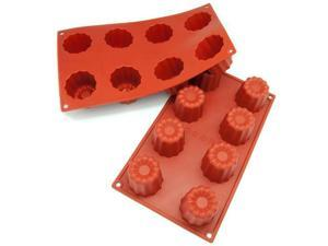 Freshware 8-Cavity Canneles Silicone Mold and Baking Pan (Pack of 2) - OEM