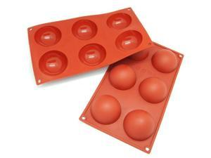 Freshware 6-Cavity Half Sphere Silicone Mold and Baking Pan (Pack of 2) - OEM