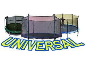 11 ft Trampoline Net attaches with Straps for Multiple Configurations Semi-Universal Enclosures - Fits Universal