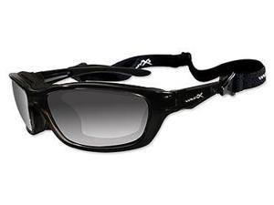 Wileyx Brick Polarized Smoke Grey/Gloss Black Glasses