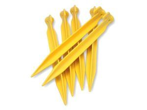 "Coghlans 6"" ABS Plastic Tent Pegs in Yellow 100-count 9307"