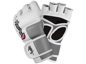 Hayabusa Tokushu 4oz MMA Gloves White/Slate Grey LG Boxing Accessories