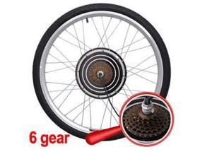 700 Watt 6 Gear Electric Bicycle Rear Wheel Conversion Kit