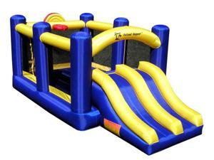 Race & Slide Inflatable Bounce House W/2 Slides For Kids