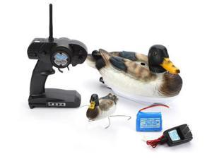 Remote Control Duck RC Decoy Boat W/Grappler & Dual Intakes