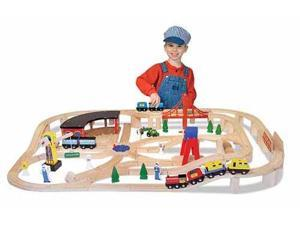 Wooden Railway Set - Melissa and Doug