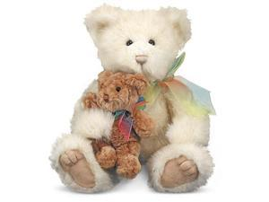 Cream & Puff Mother and Baby Teddy Bear Stuffed Animals - Melissa and Doug