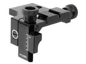 "Air Venturi Williams Rear Sight, Notched Blade, Elevation & Windage Adj., 3/8"" Mount"
