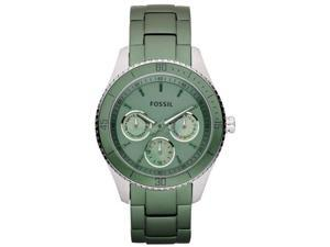 Fossil Women's Stella ES3039 Green Stainless-Steel Quartz Watch with Green Dial