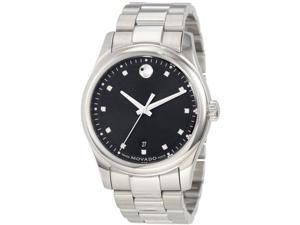 Movado Sportivo Diamond Stainless Steel Mens Watch 0606496