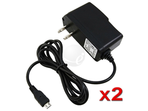 2x Wall AC Charger compatible with Motorola Droid 2 Global Atrix 4G
