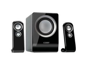 COBY 100-Watt High Performance MP3 Speakers, Black