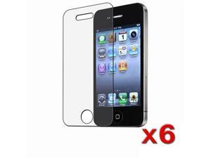 Insten 6 x Anti-Glare Screen Protector for Apple iPhone 4 / 4S