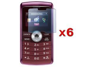 Premium Reusable LCD Screen Protector compatible with LG Vx9200 Env3 - 6 Packs