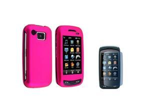 compatible with Samsung© AT&T IMPRESSION A877 PINK HARD CASE+LCD protector
