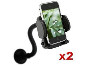 2x Car Windshield Mount Holder Cradle compatible with iPhone® 3G 4G 4 4S
