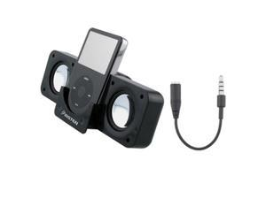 Insten Dock Station Speaker + Black 3.5mm Audio Adapter Compatible With Apple® iPhone® 4Gb \ 8GB \ 16 GB 1Gen