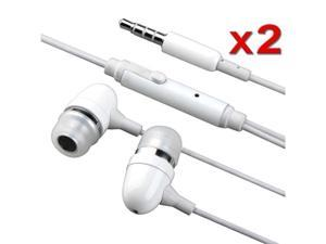 2 Headphone Earphone Earbud + Mic Compatible with iPhone® 3G S 4G OS 4 iPhone® 4S - AT&T, Sprint, Version 16GB 32GB 64GB